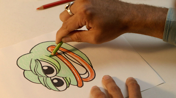 Cartoonist Matt Furie sketches out his creation, Pepe the Frog. The new documentary Feels Good Man shows how the frog went from innocent cartoon character to powerful political tool.