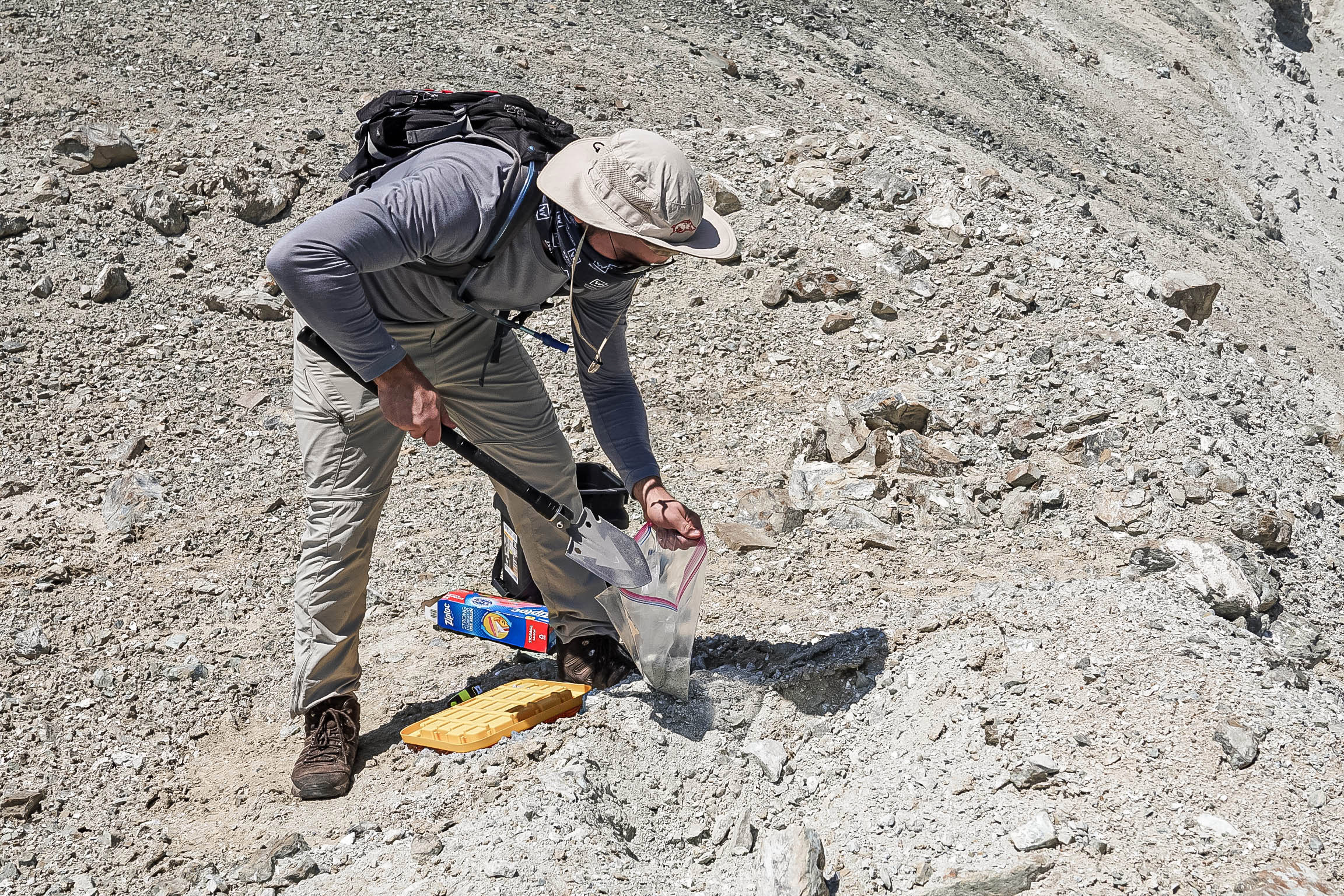 collecting minerals
