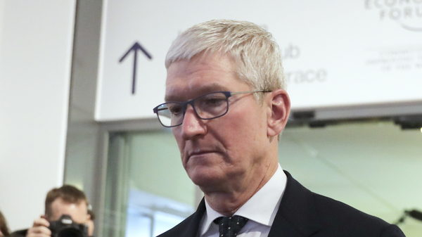 Apple CEO Tim Cook at the World Economic Forum in Davos, Switzerland, in 2020.